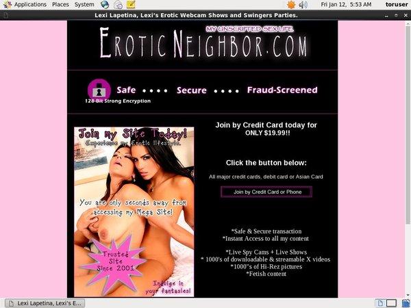 Erotic Neighbor Passes