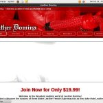 Leather Domina Discount Deal