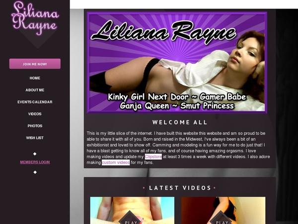Liliana Rayne Password Forum