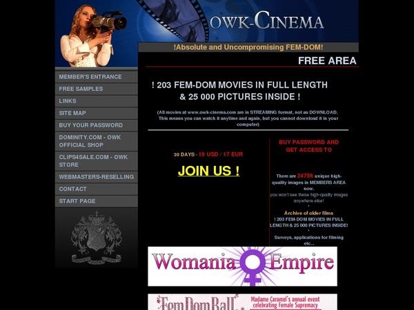 Owk Cinema Daily Passwords