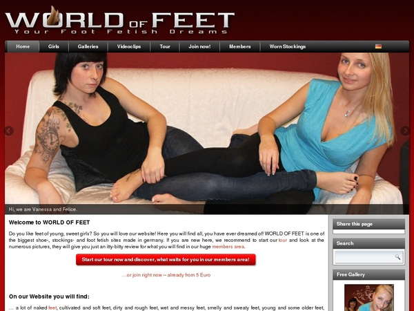 WORLD OF FEET Home Page