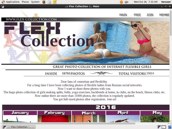 Flex Collection Home Page