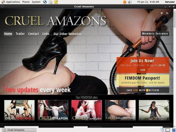 Get Cruel Amazons Account