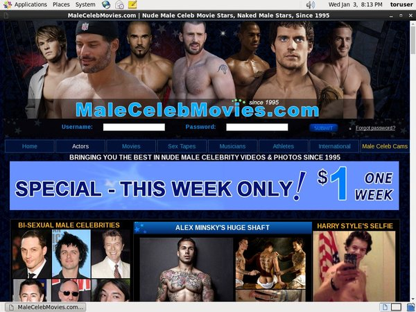 Male Celeb Movies Clips For Sale