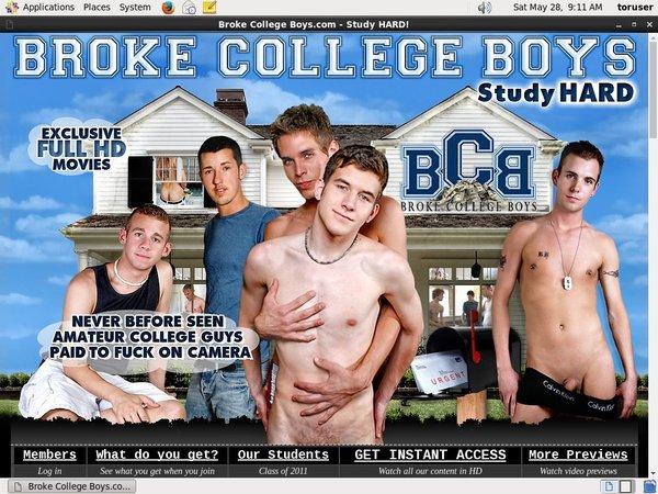 Brokecollegeboys.com With EUDebit