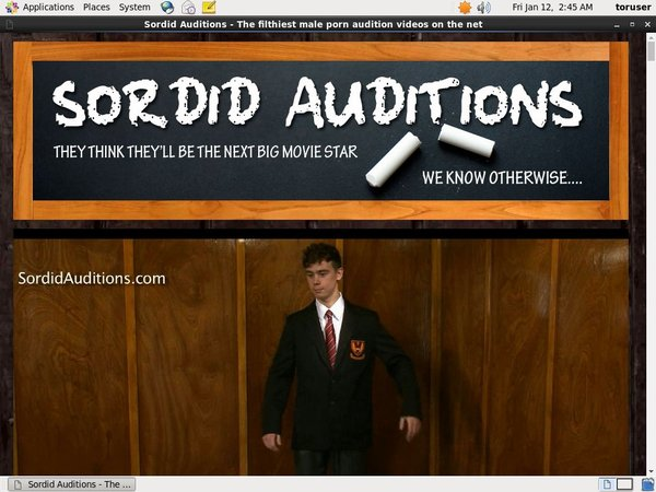 Sordid Auditions Paysafecard